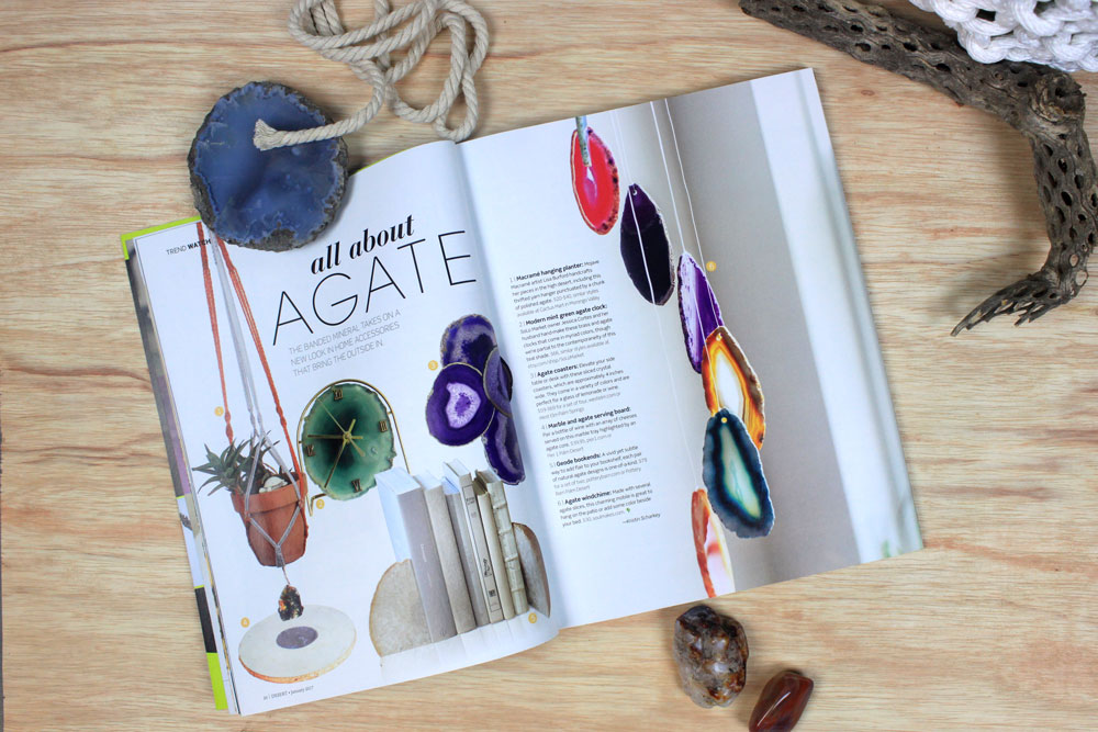 Mojave Macrame in the agate product article of Desert Magazine