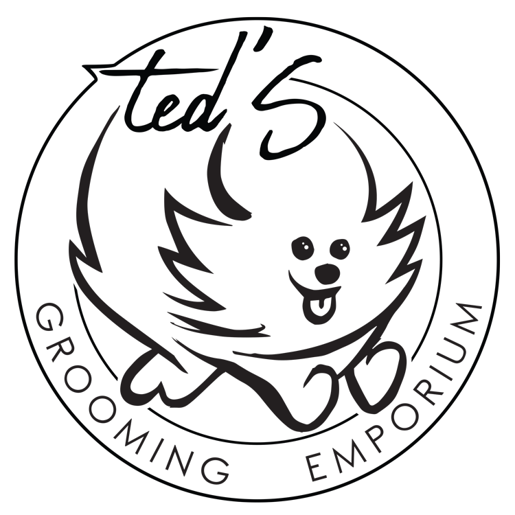 Ted's Grooming Emporium and Pet Supply logo in black